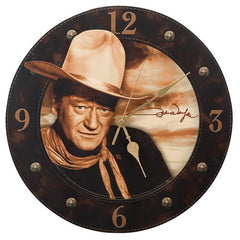 John Wayne 13.5 Cordless Wood Wall Clock