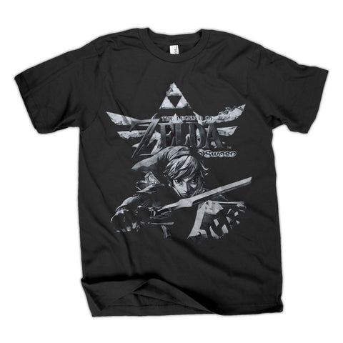 Nintendo Legend of Zelda Black T-Shirt | S