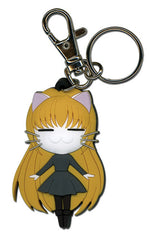 Black Cat Eve Cat Pvc Keychain