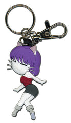 Black Cat Rinslet Cat Form Pvc Keychain