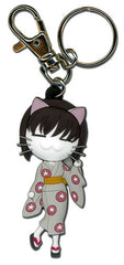 Black Cat Saya Cat Form Pvc Keychain