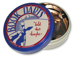 Book Darts Line Markers 50 Count Tin Bronze