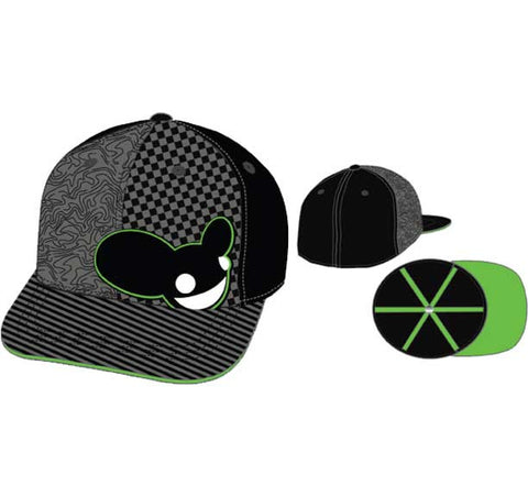 Deadmau5 Tri Patterned Mau Flat Bill Baseball Cap