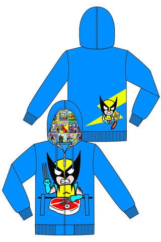 Tokidoki X Marvel X-men Wolverine Zip-up Hoodie Sweatshirt L