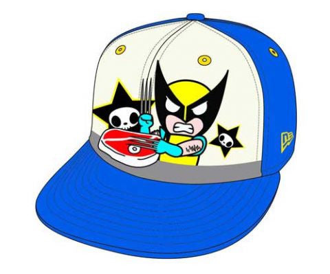 Tokidoki X Marvel X-men Wolverine Steak 59fifty Baseball Cap 7 1/2