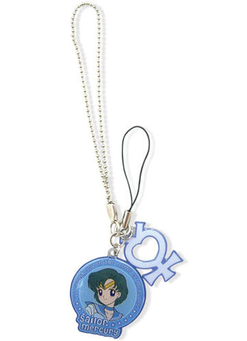 Sailor Moon Mercury & Symbol Metal Cell Phone Charm