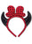 Devil Horn Headband Devil Polka Dot Headband