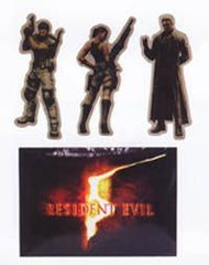 "Resident Evil 5"" Stickers- 5"" Character Art Set Of 4 (Case 12""50)"
