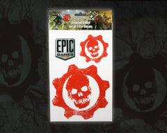 Gears of War 3 Car Decals Crimson Omen Set of 3