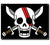 One Piece Shank's Skull & Crossed Swords Flag