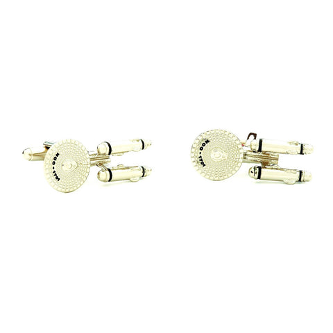 Star Trek TOS Enterprise Badge Cufflinks