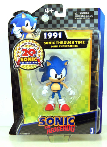 Sonic The Hedgehog 5 Inch 20th Anniversary Sonic Through Time Figure