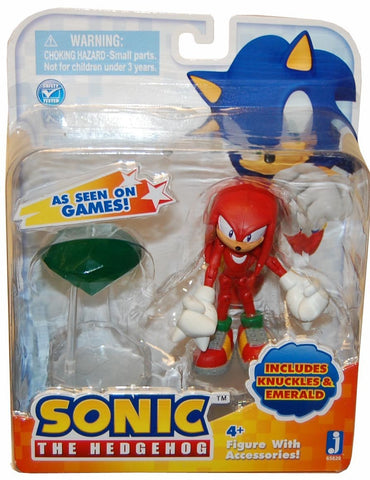 Sonic the Hedgehog Knuckles 3 Inch Action Figure With Accessories Set Knuckles & Master Emerald