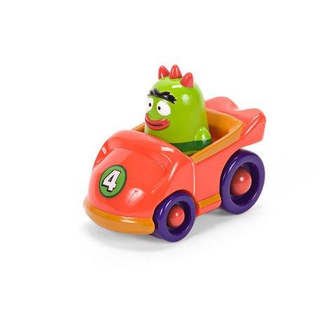 Yo Gabba Gabba! Brobee in Red Car Toy