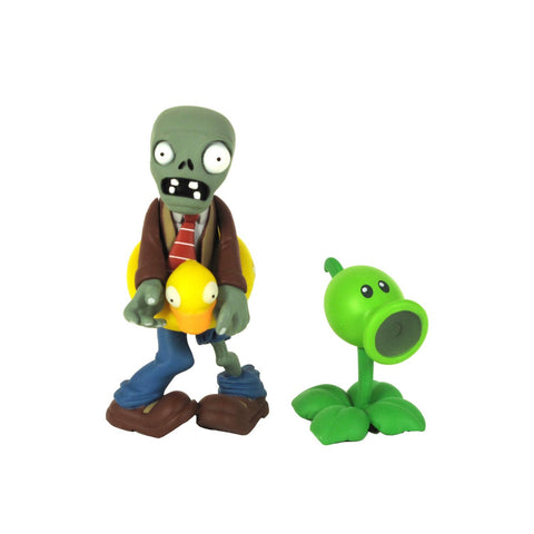Plants vs Zombies Figures 3 Inch Ducky Zombie with Peashooter Figures