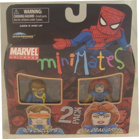 Marvel Minimates Series 34 Mini Figure 2Pack 90s Cyclops & 90s Jean Grey