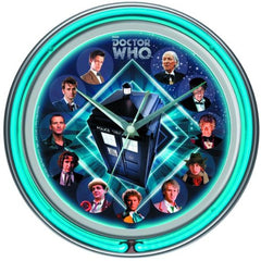 Doctor Who Double Neon Wall Clock