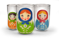 Babushkups - Set of 3 Glasses