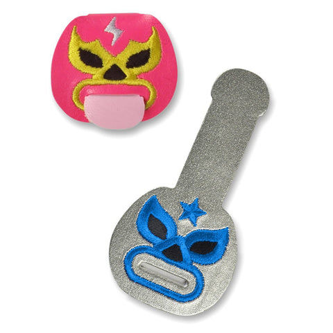 Fred & Friends Tongue Ties Luchadores Cord Keepers