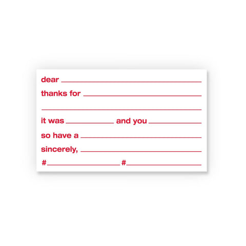 Carded: Thanks Social Currency Cards