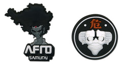 Afro Samurai Afro & Afro Droid Pins