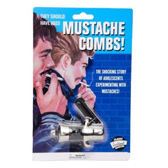 Switchblade Mustache Comb