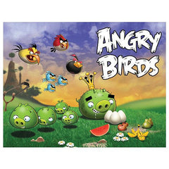 Angry Birds Scene 2 Pigs Going After Eggs 24 Piece Jigsaw Puzzle