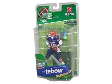 NCAA College Football Series 3 Tim Tebow Florida Gators Action Figure Limited Edition Blue/Blue Uniform