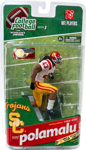 NCAA College Football Series 3 Troy Polamalu USC Action Figure White/Yellow Variant