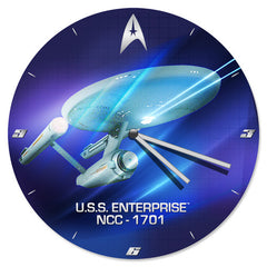 Star Trek 13.5 Cordless Wood Wall Clock