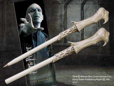 Harry Potter And The Deathly Hallows Voldemort Wand Pen And Bookmark Set