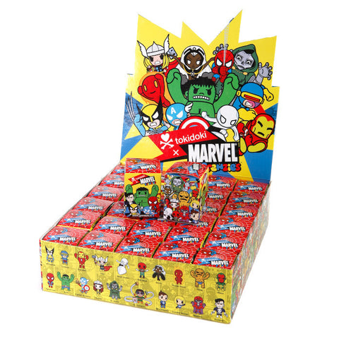Tokidoki X Marvel Frenzies Trading Figures Zipper Pulls (Display of 30 Blind Boxes)