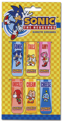 Sonic The Hedgehog Group Magnet Bookmark