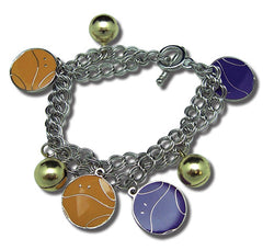 Gundam 00 Haro Yellow and Purple Charms Bracelet