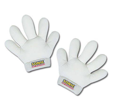 Sonic The Hedgehog Sonic / Tails White Plush Cosplay Gloves