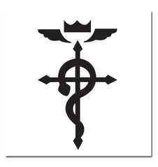 Fullmetal Alchemist Brotherhood Cross of Flamel Temporary Tattoo
