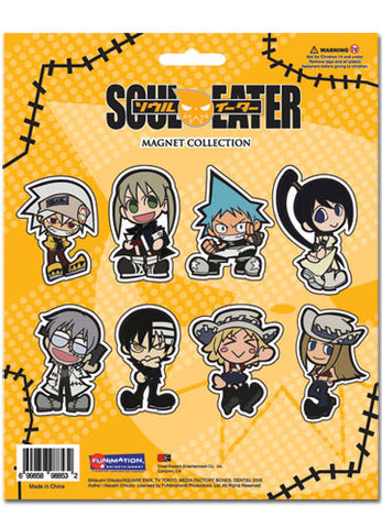 Soul Eater Cutout Chibi Characters Magnet