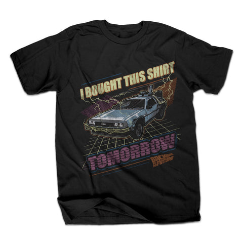 Back To The Future I Bought This Shirt For The Future Mens Black T-Shirt | XXL