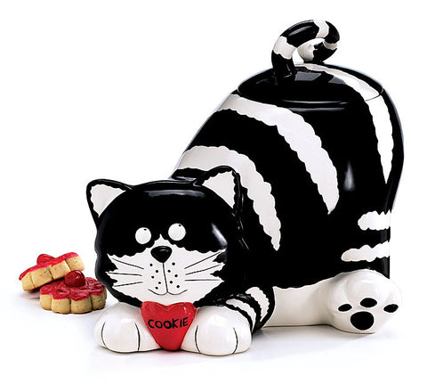 Chester The Cat Lying Cookie Jar