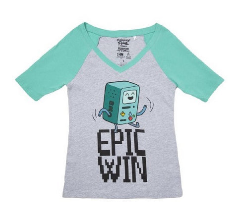Adventure Time Beemo Epic Win Juniors T-Shirt | L