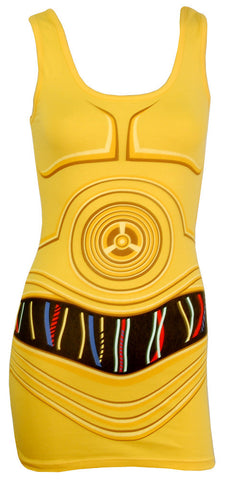 Star Wars I am C-3PO Costume Tank Dress | S