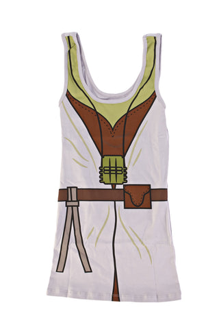 Star Wars Yoda I Am Juniors Gray Tank Top Shirt | XL