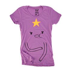 Adventure Time I Am Lumpy Space Princess Juniors Purple Shirt | S