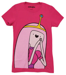 Adventure Time I Am Princess Bubble Gum Juniors Pink T-Shirt | L