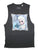Disney Frozen Freezing Heart Juniors Grey Sleeveless T-Shirt | S