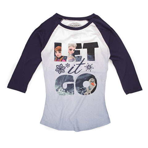 Disney Frozen Trio Let It Go Scene Juniors Long Sleeve T-Shirt | XL