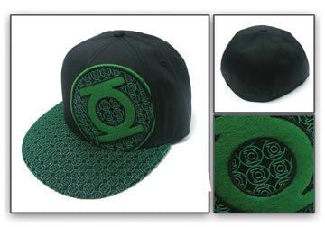 DC COMICS Green Lantern Logo Mens Black Flex Cap