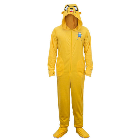 Adventure Time Jake Onesie Footie Pajama with Cape | XL