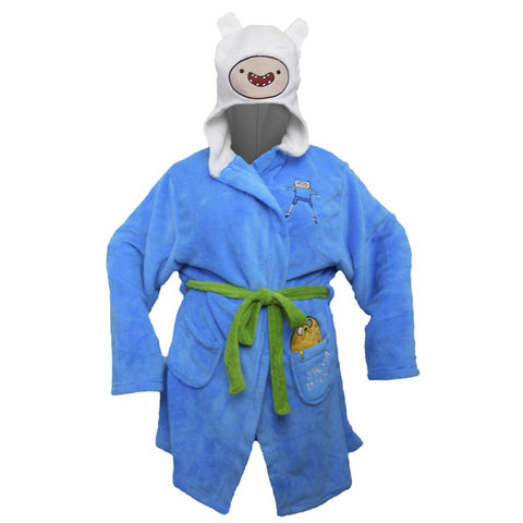 Adventure Time Finn Hooded Robe - One Size