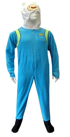 Adventure Time Finn Onesie Footie Pajama with Cape | L